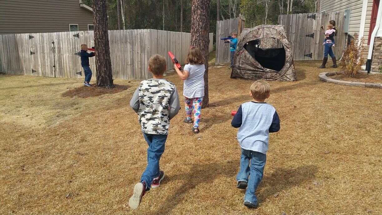 North Carolina laser tag birthday party in Fayetteville, Pinehurst, Lee County, Moore, Scotland and Montgomery County NC